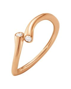 Georg Jensen magic ring i 18kt rosaguld med diamanter 10011623