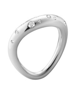 Georg Jensen Offspring ring i sølv med brillantslebne diamanter 10013251