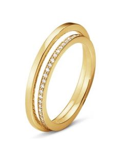 Georg Jensen Halo ring i 18 karat guld med diamanter 10014072