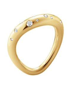 Georg Jensen Offspring ring i 18 karat guld med diamant 10015345