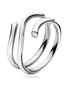 Georg Jensen Magic ring i 18 karat hvidguld med diamanter 1513A 3569760
