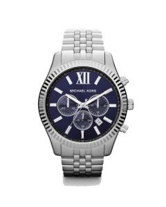 Michael Kors Lexington chronograph silver blue MK8280