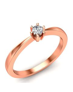 Laura Solitaire diamantring med 0,10 carat diamanter