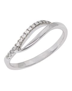 Infinity diamantring med 0,08 carat diamanter