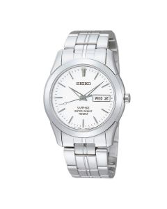 Seiko Sapphire White Dial i rustfrit stål SGG713