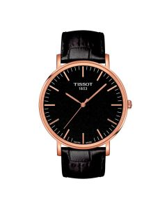Tissot Everytime Large med sort læderrem T1096103605100