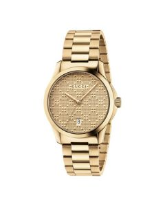 Gucci G-Timeless Diamante Dial Gold YA126461